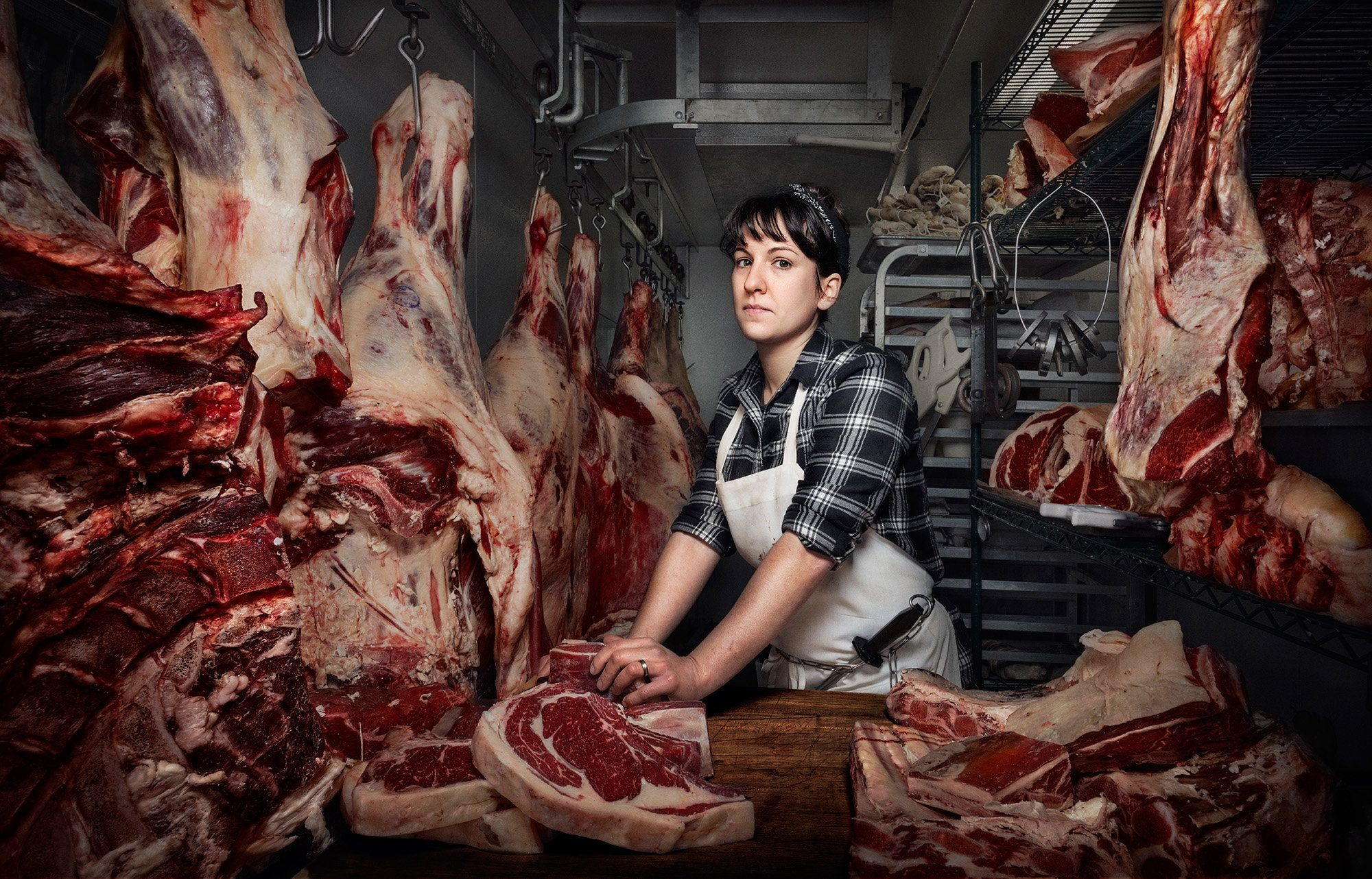 Heather Marold Thomason; Butcher and Owner of Primal Supply Meats. Shot in Philadelphia