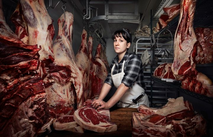 Heather Marold Thomason; Butcher and Owner of Primal Supply Meats. Shot in Philadelphia PA.