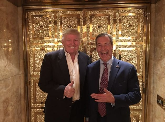 Trump and Farage in that