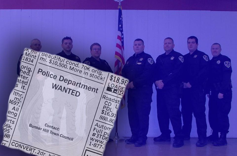 The entire police department in the town of Bunker Hill, Indiana, resigned this week.