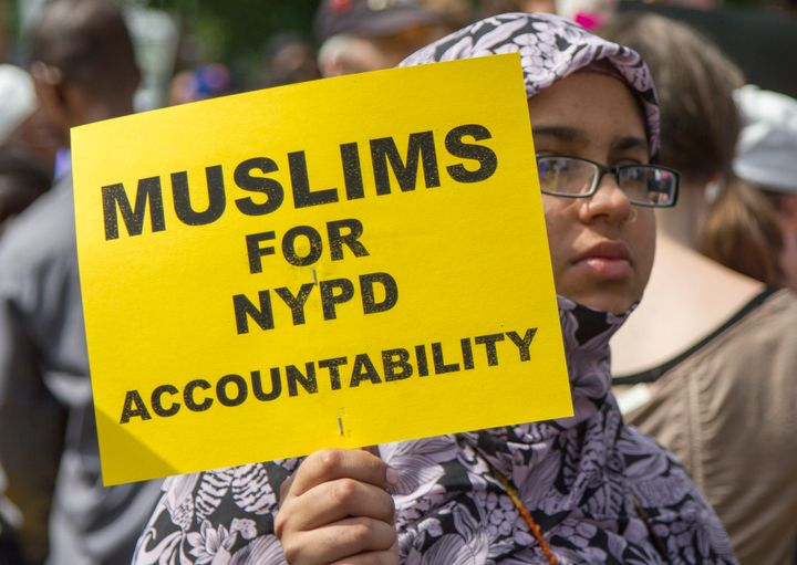 Tens of thousands of New Yorkers participated in a silent march on June 17, 2012 to protest the NYPD's religious and rac