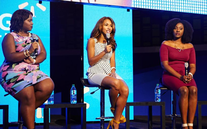 """""""Beauty and Image"""" Essence Festival Panel Sponsored By Walmart: Anique Hameed, Angelina Darrisaw, Jere Reid"""