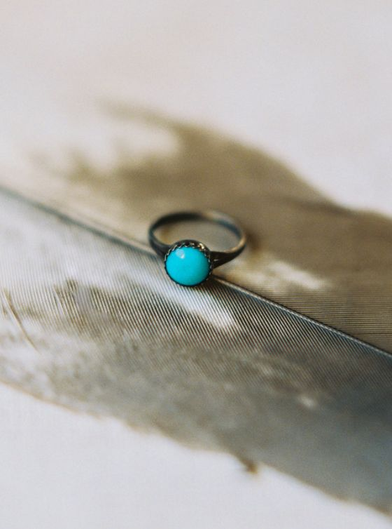 This turquoise ring once belonged to June Carter Cash.
