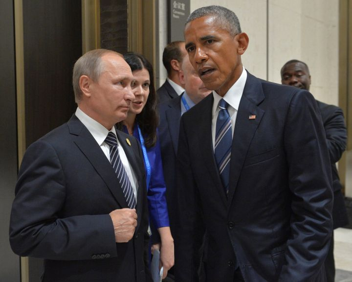 President Barack Obama says he spoke directly toRussian President Vladimir Putin about cyberattacks when they met in Se