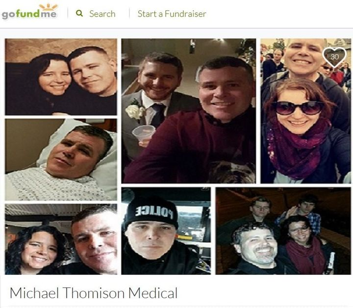 A GoFundMe fundraiser is intended to help Michael Thomison with his medical expenses.