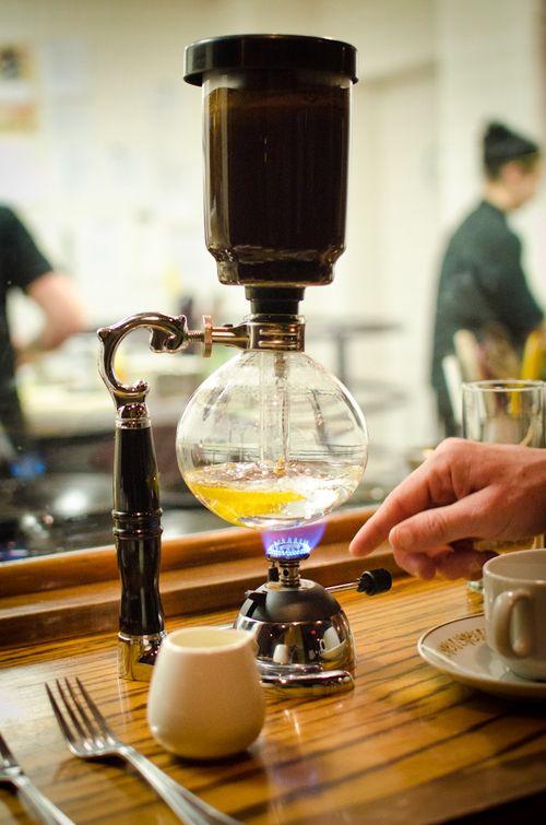 Siphon coffee at Restaurant Gwendolyn