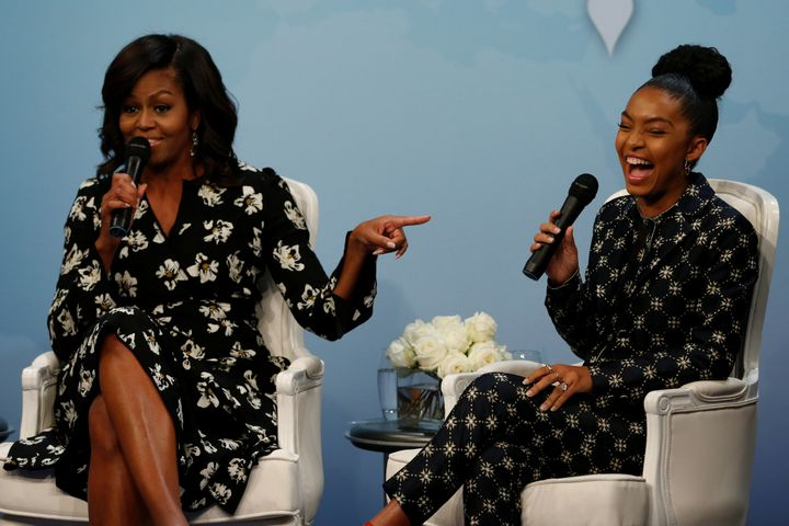 Yara Shahidi took part in a forum on girls' education this October with Michelle Obama this October.