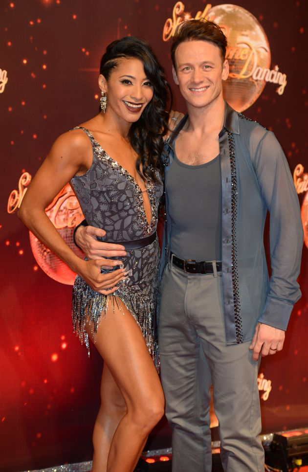 Kevin Clifton with wife and fellow pro dancer,