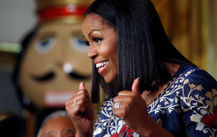 """Michelle Obama graced the covers of <a href=""""http://www.vogue.com/13501355/michelle-obama-december-cover-interview-first-lady"""