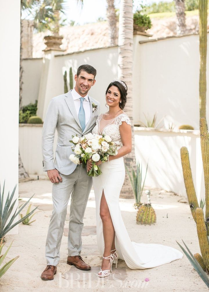 The bride wore a Julie Vino dress for the occasion.
