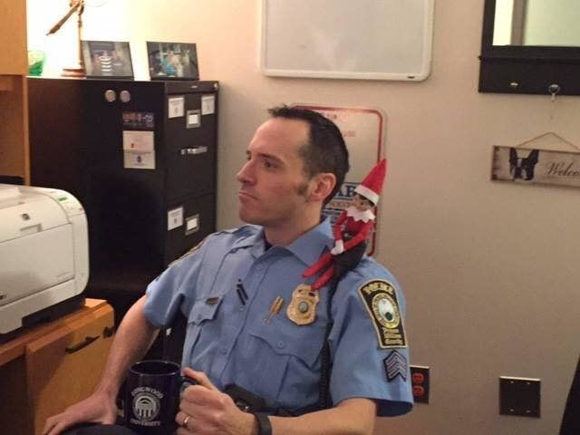 Jonathan Perok, an officer with the Prince William County Police Department, bought an Elf on the Shelf to take to the station and fill in for Freddie.