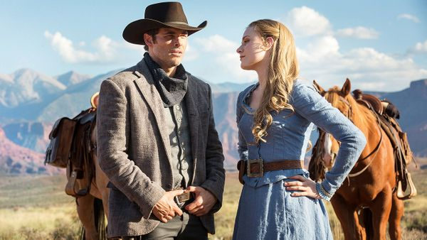 "A criticism of ""Westworld"" could be that it's just ""Jurassic Park"" with robots. It is. But what"