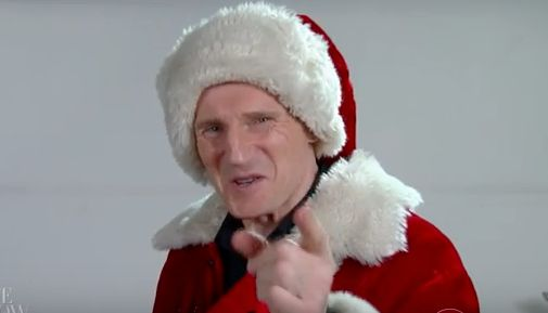 Liam Neeson Is The Sinister Santa Claus Of Your