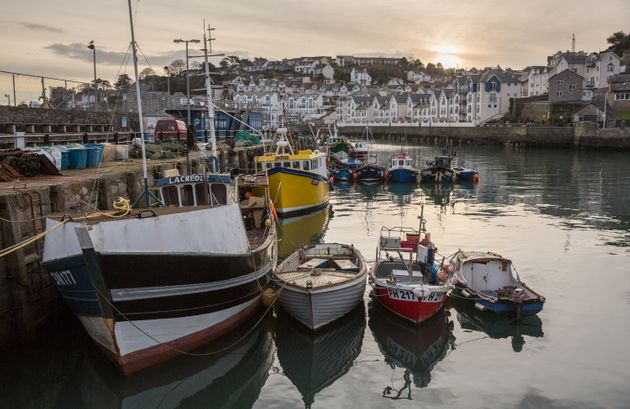 The famous Brixham seaport in Devon, one of the UK's biggest fishing ports by