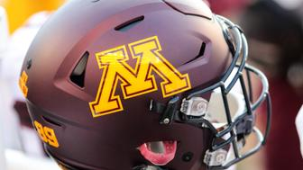 MADISON, WI - NOVEMBER 26: Minnesota Golden Gophers football helmet sits on top of warmer during game action. Wisconsin beat Minnesota by a final score of 31-17 at Camp Randall Stadium on November 26, 2016 in Madison, WI. (Photo by Patrick S. Blood/Icon Sportswire via Getty Images)