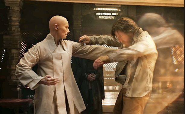 "Tilda Swinton as The Ancient One in ""Doctor Strange."""