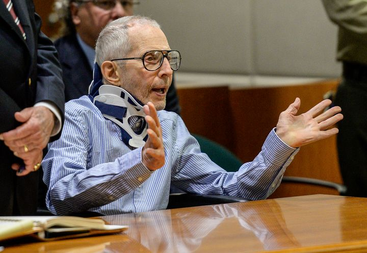 Robert Durst appears in the Airport Branch of the Los Angeles County Superior Court on Nov. 7.