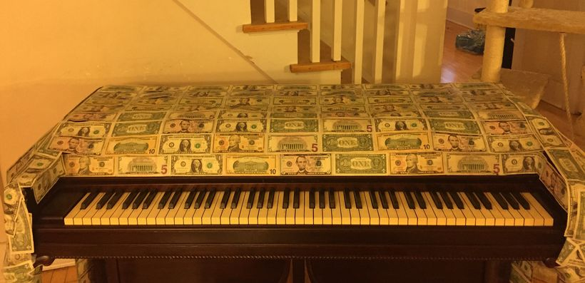 """The piano used in the music video for <a rel=""""nofollow"""" href=""""http://www.facebook.com/ianandthedream/videos"""" target=""""_blank"""">"""