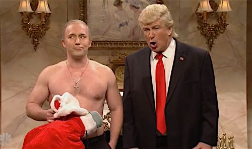 'SNL's' Shirtless Version Of Vladimir Putin Pays Alec Baldwin's Donald Trump A Christmas