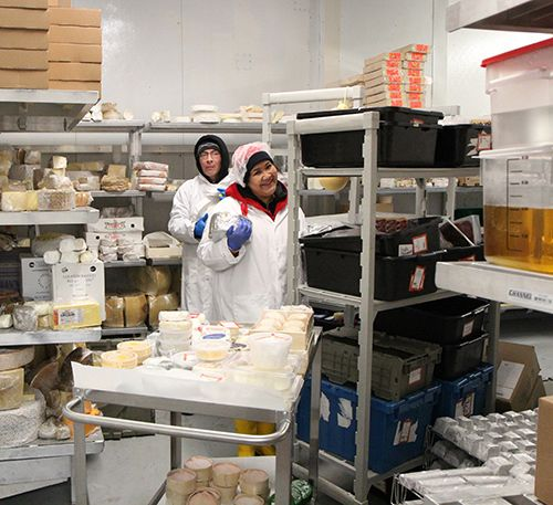<strong>Some 60 to 70 people work in the cheese caves.</strong>