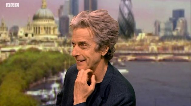 Peter Capaldi appearing on the Andrew Marr Show this