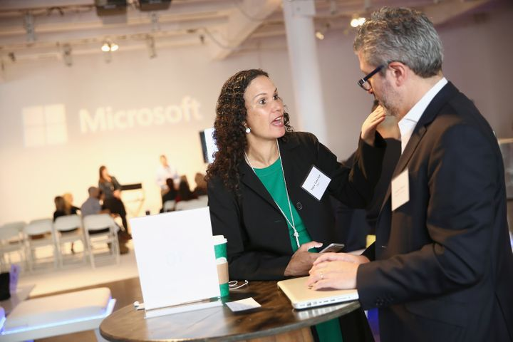 Entrepreneur Tanya Van Court of iSow, speaks with Laurent Ohana of  Parkview Ventures at The Scale Collective, an event for f