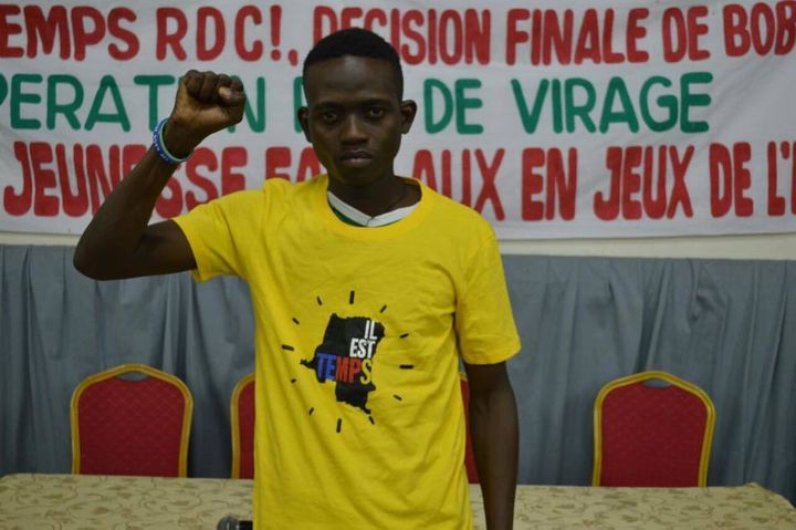 Congolese youth participant at the youth conference held in Kinshasa on November 30, 2016 organized by Quatrième Voie at the