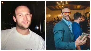(Left) Swanwick before. (Right) Swanwick post drinking.
