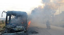 Gunmen Burn Buses To Stall Aleppo