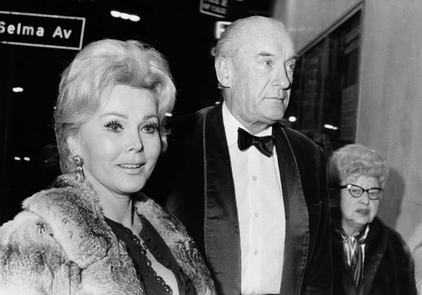 Gabor with English actor George Sanders, her third husband. The actress was married eight times (nine -- if you count the&nbs