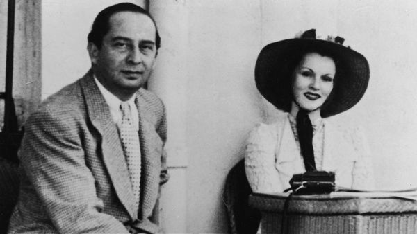 "Gabor with her first husband husband, Turkish diplomat Burhan Belge. Gabor <a href=""http://www.nytimes.com/2016/12/18/movies/"