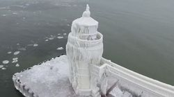 Sub-Zero Temperatures Transform Lighthouse Into A Fairy Tale