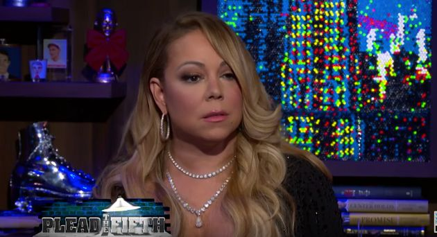 Mariah's reaction to being called 'nasty'. There's shade a-brewin', you can see