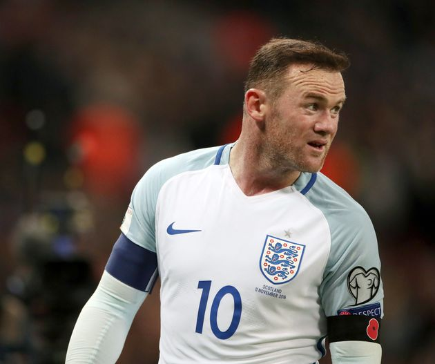 England's Wayne Rooney wore the poppy symbol during the Group F qualifier at Wembley,