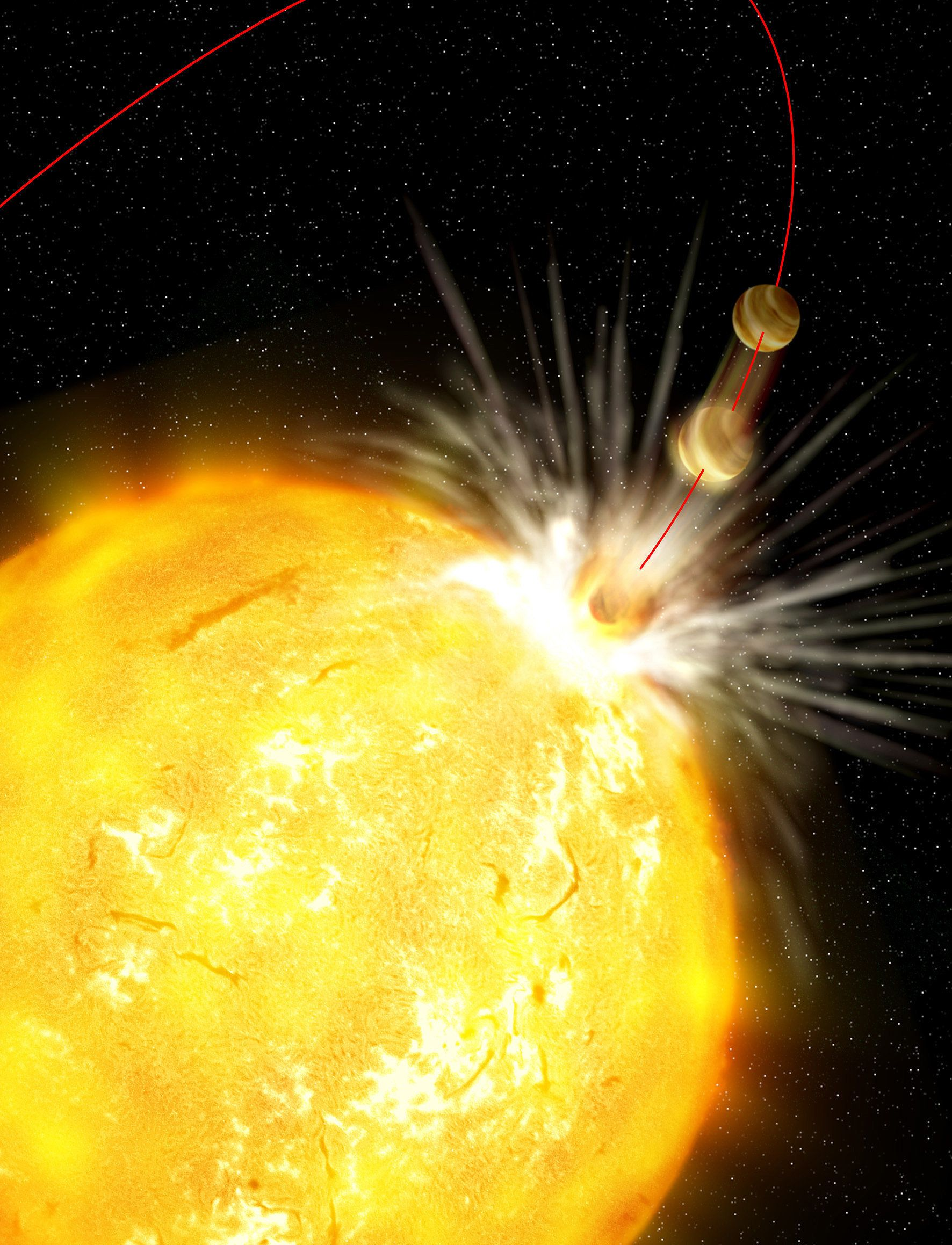 This Planet-Eating Star Is A Horrifying Glimpse Into Our Own Fiery