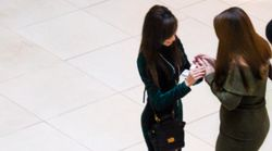 Woman Proposes To Girlfriend And This Stranger's Reaction Is
