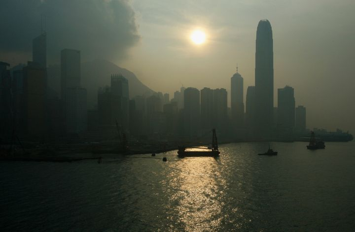 Hong Kong pollution on Sept. 17, 2008.