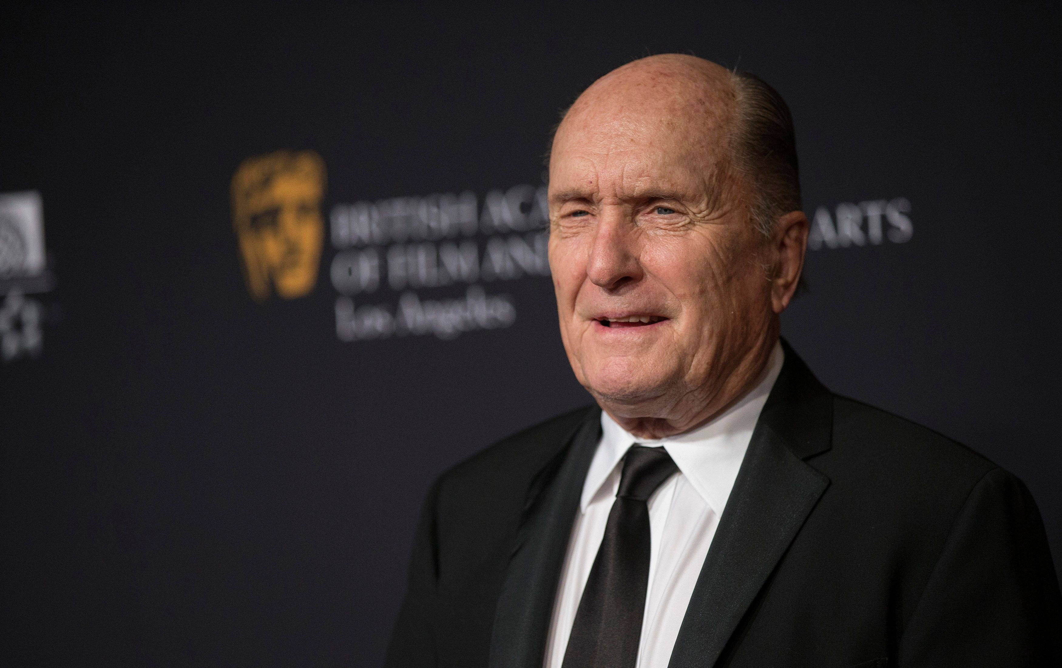 Actor Robert Duvall poses at the BAFTA Los Angeles Britannia Awards at the Beverly Hilton hotel in Beverly Hills, California October 30, 2014. REUTERS/Mario Anzuoni  (UNITED STATES - Tags: ENTERTAINMENT HEADSHOT)