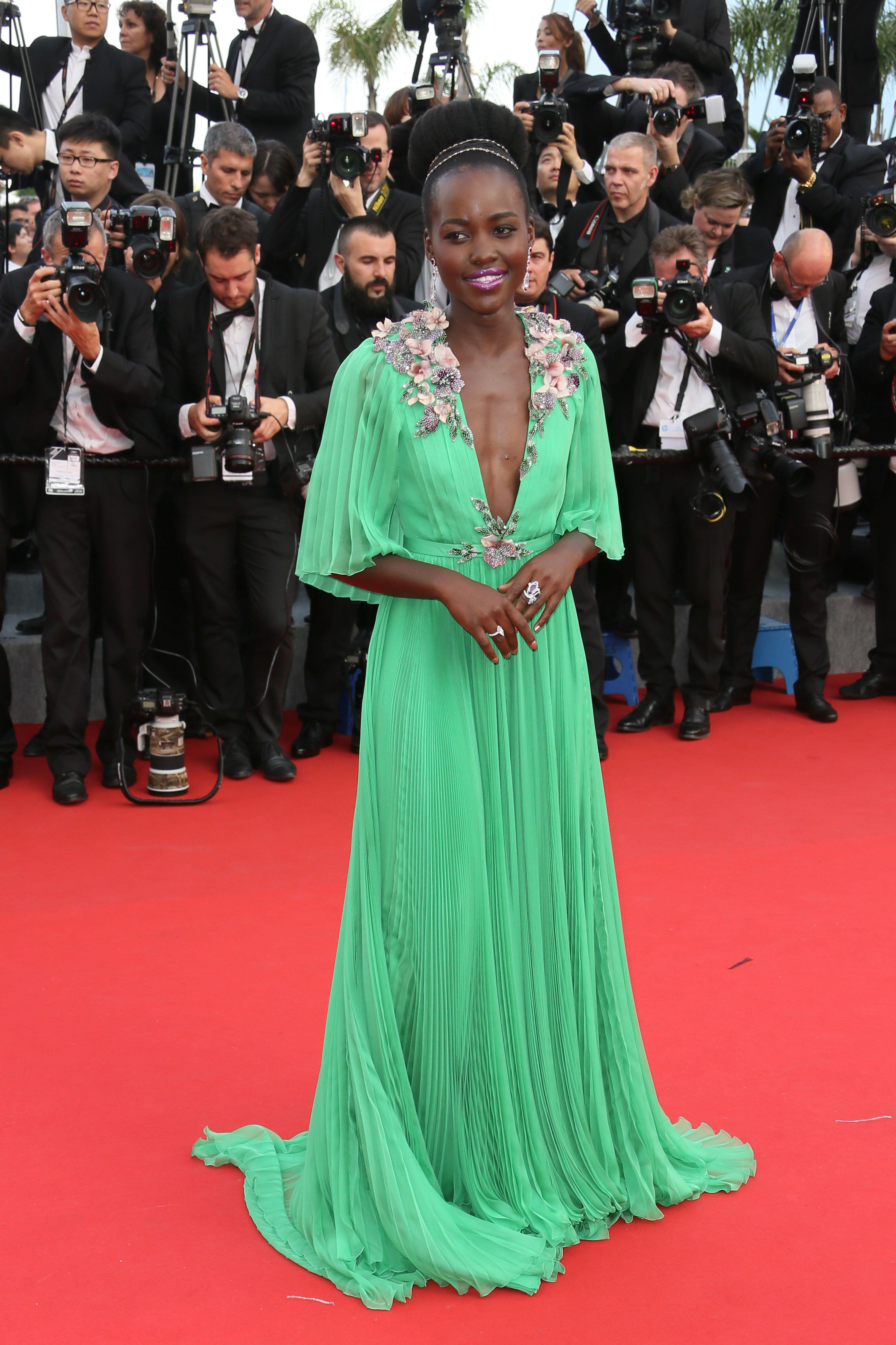 CANNES, FRANCE - MAY 13:  Lupita Nyong'o attends the opening ceremony and 'La Tete Haute' ('Standing Tall') premiere during the 68th annual Cannes Film Festival on May 13, 2015 in Cannes, France.  (Photo by Tony Barson/FilmMagic)