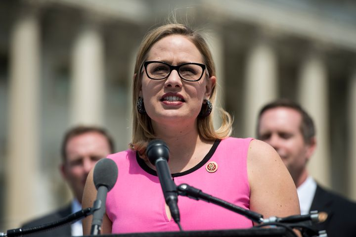 Rep. Kyrsten Sinema said a vote against the Iran deal was not a vote for war.