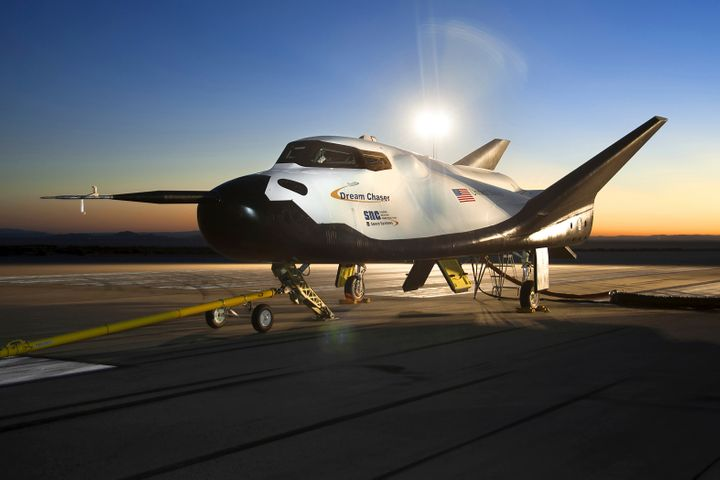 The Sierra Nevada Corporation (SNC) Dream Chaser flight vehicle is readied for 60 mph tow tests at NASA's Dryden Flight Resea