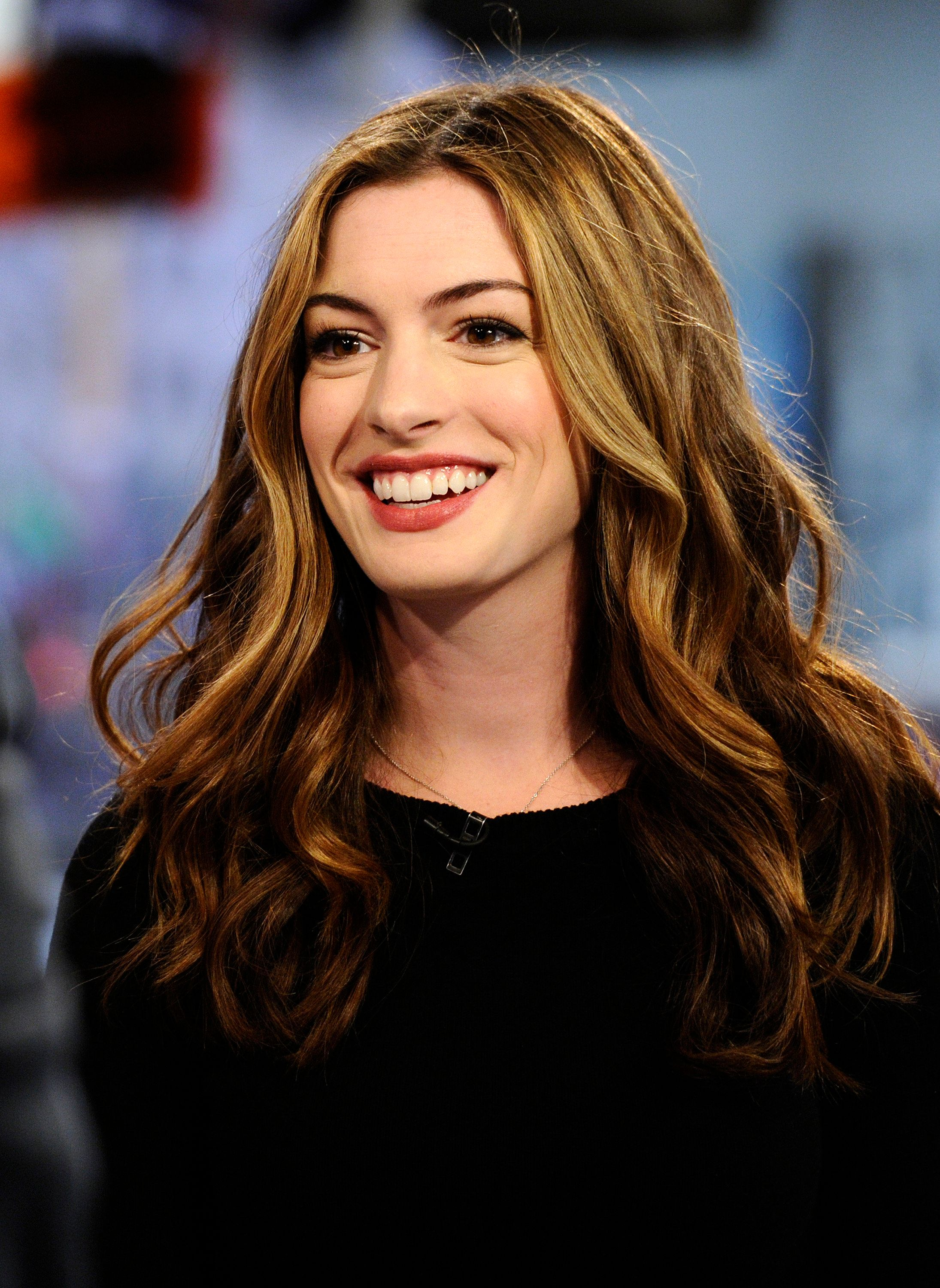 TODAY -- Pictured: Anne Hathaway appears on NBC News' 'Today' show  (Photo by Peter Kramer/NBC/NBCU Photo Bank via Getty Images)