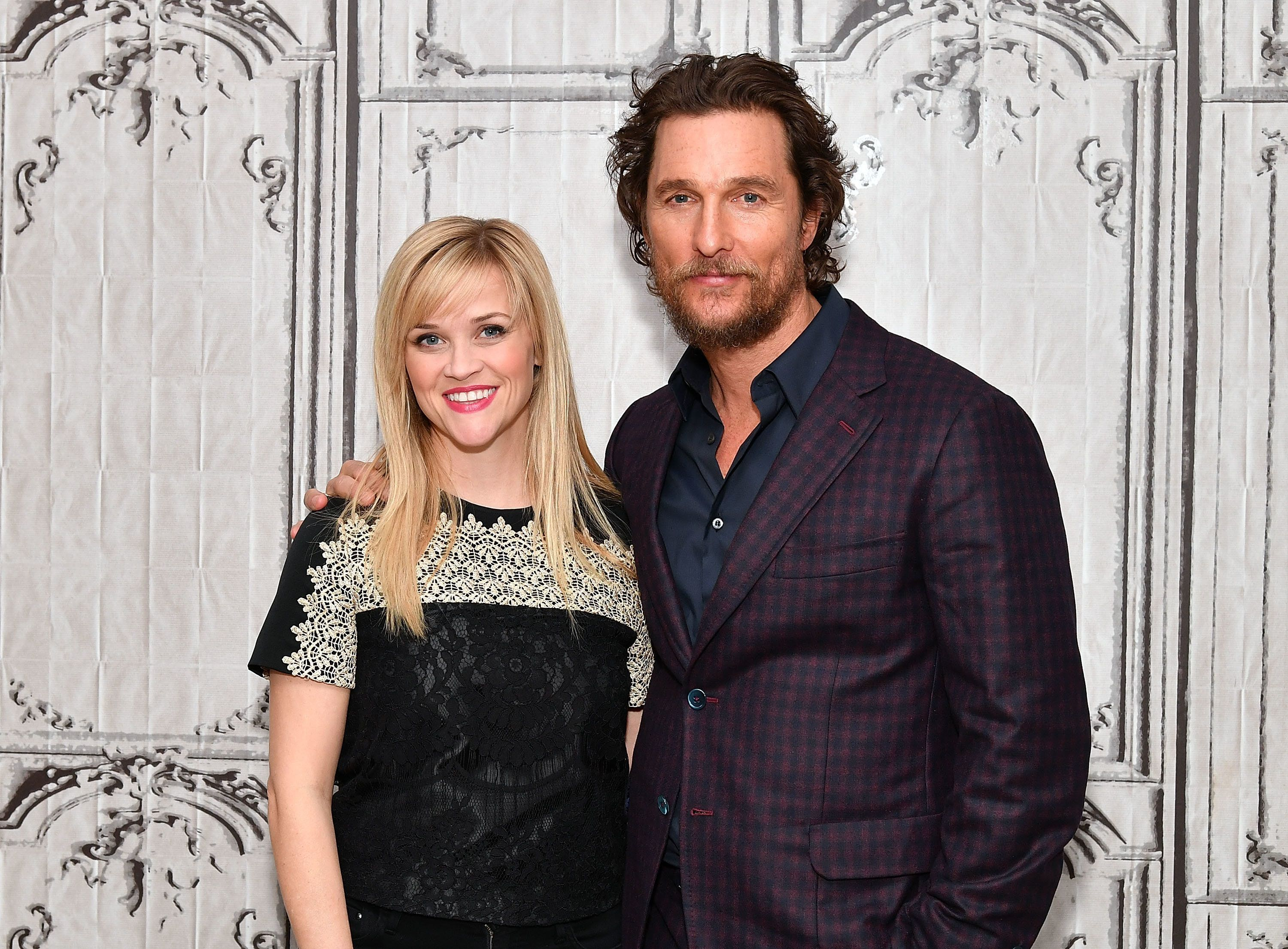NEW YORK, NY - DECEMBER 16:  Matthew McConaughey and Reese Witherspoon visit AOL BUILD to discuss 'Sing' at AOL HQ on December 16, 2016 in New York City.  (Photo by Slaven Vlasic/Getty Images)