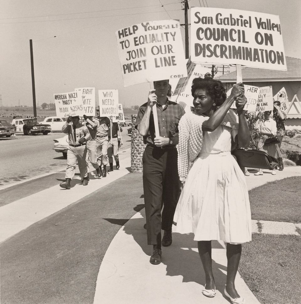 A photo of civil rights advocates picketing next to the American Nazi Party put our country's current...