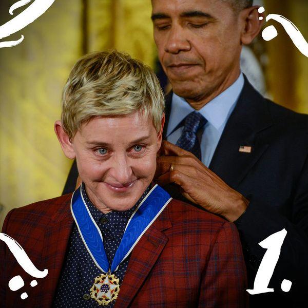 President Barack Obama awarded Ellen DeGeneres the Presidential Medal of Freedom, America's highest civilian honor, in