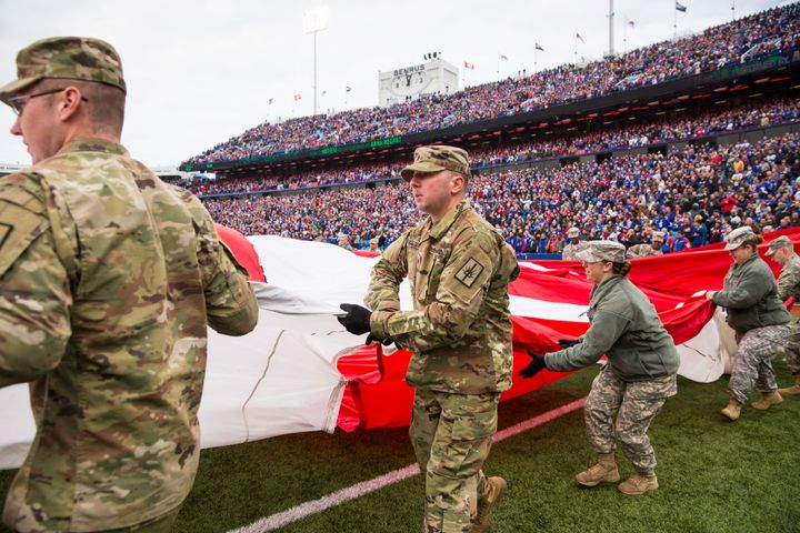 "The Department of Defense paid for tributes that are part of the NFL's ""Salute to Service."""