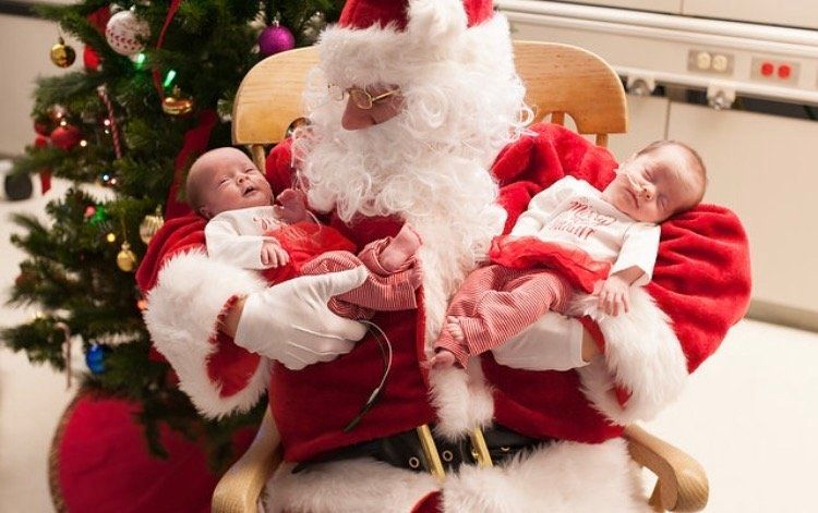 "Rachel Speer said Santa was ""incredibly sweet and gentle"" with her twin girls."