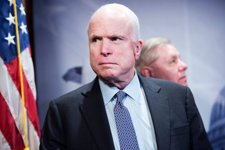 Image result for trump mccain