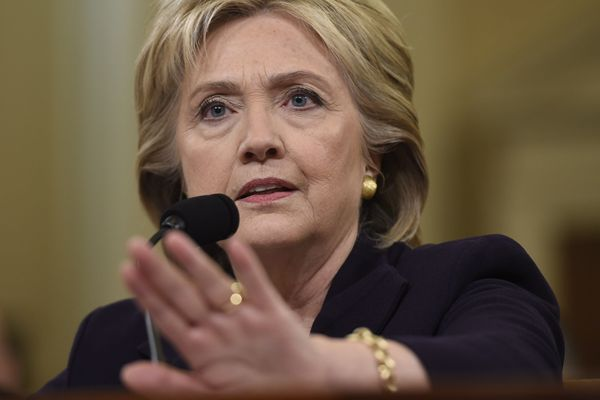 Former Secretary of State and Democratic Presidential hopeful Hillary Clinton testifies before the House Select Committee on