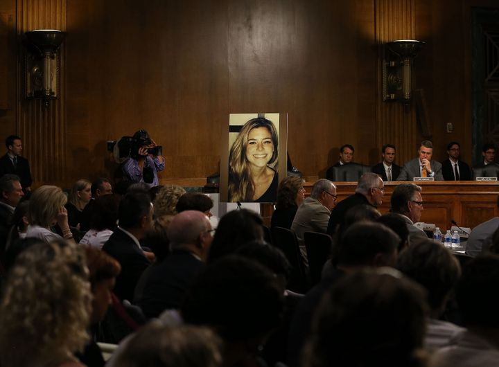 """""""Sanctuary cities"""" have come under scrutiny since KateSteinle, pictured, was fatally shot in San Francisco, allegedly b"""